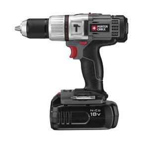 "18V NiCD 1/2"" Compact Hammer Drill Kit, Model PC180CHDK-2"