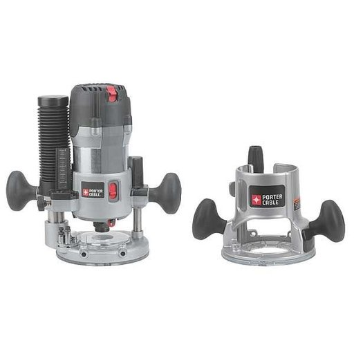 View a Larger Image of Porter-Cable 2-1/4 HP (Maximum Motor HP) Multi-Base Router Kit,  Model 893PK