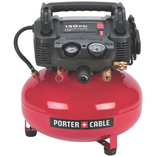 View a Larger Image of Oil-Free Pancake Compressor, 150 PSI, 6 Gallon, Model C2002