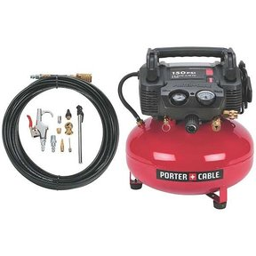 Porter-Cable Oil-Free Pancake Compressor, 150 PSI, 6 Gallon, with accessory kit, Model C2002-WK