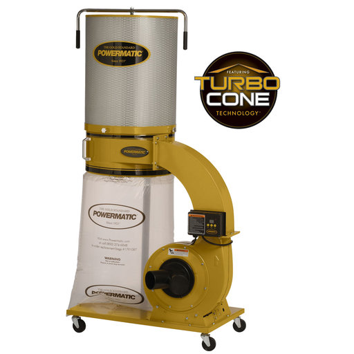 View a Larger Image of TurboCone Dust Collector, 1.75HP 1PH 115/230V, 2-Micron Canister Kit, Model PM1300TX-CK
