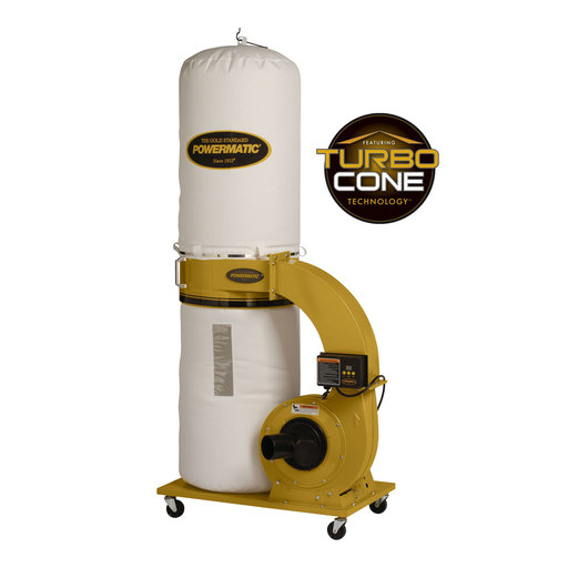 View a Larger Image of TurboCone Dust Collector, 1.75HP 1PH 115/230V, 30-Micron Bag Filter Kit, Model PM1300TX