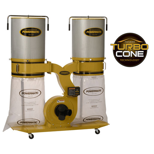View a Larger Image of TurboCone Dust Collector, 3HP 1PH 230V, 2-Micron Canister Kit, Model PM1900TX-CK1