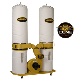 TurboCone Dust Collector, 3HP 3PH 230/460V, 30-Micron Bag Filter Kit, Model PM1900TX-BK