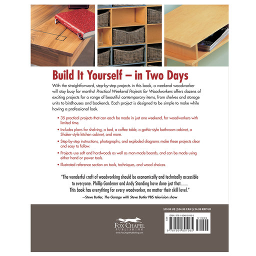 View a Larger Image of Practical Weekend  Projects for WoodWorkers
