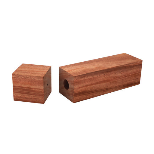 """View a Larger Image of Mahogany, African 3"""" x 3"""" x 11-3/4"""" Pre-Drilled Peppermill Blank"""