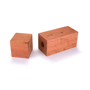 "Cherry 3"" x 3"" x 9"" Pre-Drilled Peppermill Blank"