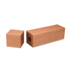 "Cherry 3"" x 3"" x 11-3/4"" Pre-Drilled Peppermill Blank"