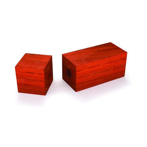 "View a Larger Image of Pre-Drilled Padauk Peppermill Blank 3"" x 3"" x 9"""
