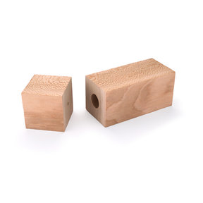 "Pre-Drilled Sycamore Peppermill Blank 3"" x 3"" x 9"""