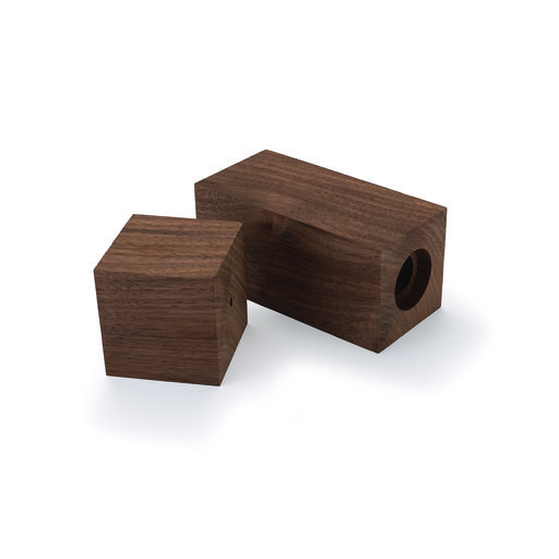 """View a Larger Image of Pre-Drilled Walnut Peppermill Blank 3"""" x 3"""" x 9"""""""