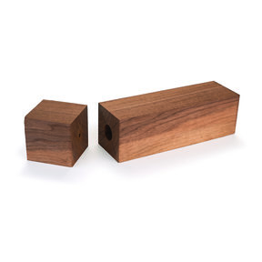 "Walnut 3"" x 3"" x 11-3/4"" Pre-Drilled Peppermill Blank"