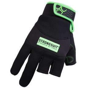 Precision Gloves, Black/Green, XL