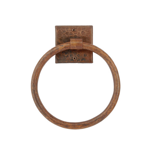 "View a Larger Image of 10"" Hand Hammered Full Size Bath Towel Ring"