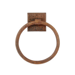 "10"" Hand Hammered Full Size Bath Towel Ring"