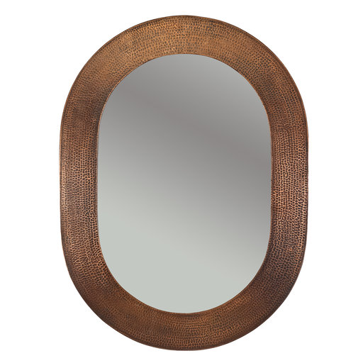 "View a Larger Image of 35"" Hand Hammered Oval Mirror"