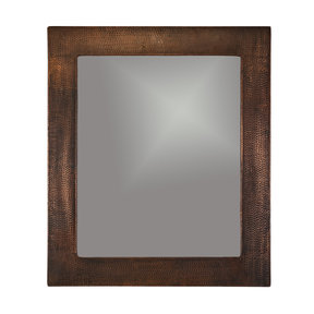 "36"" Hand Hammered Rectangle Mirror"