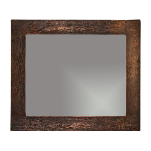 "View a Larger Image of 36"" Hand Hammered Rectangle Mirror"