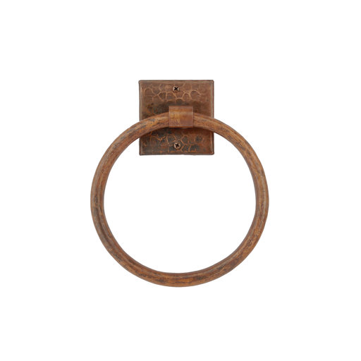"View a Larger Image of 7"" Hand Hammered Towel Ring"