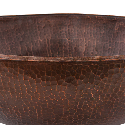 View a Larger Image of Large Round Vessel Hammered Copper Sink, Faucet and Accessories Package, Oil Rubbed Bronze