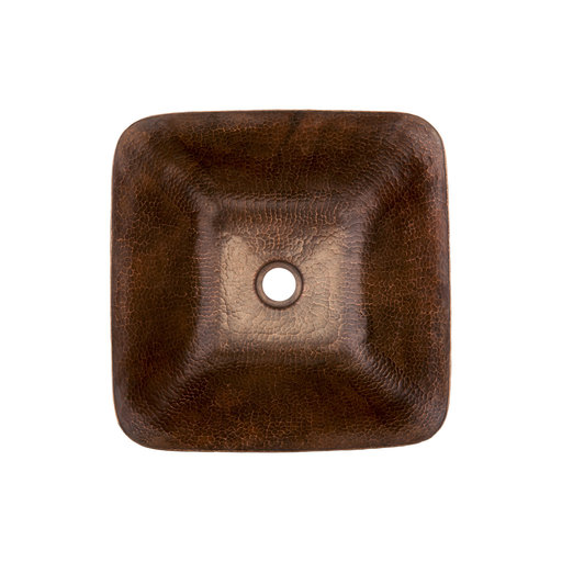 View a Larger Image of Square Vessel Hammered Copper Sink, Faucet and Accessories Package, Oil Rubbed Bronze
