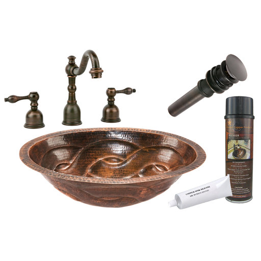 View a Larger Image of Premier Copper Products - BSP2_LO19FBDDB Bathroom Sink, Faucet and Accessories Package