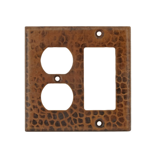 View a Larger Image of Combination 2-Hole Outlet and Ground Fault / Rocker GFI Switchplate Cover