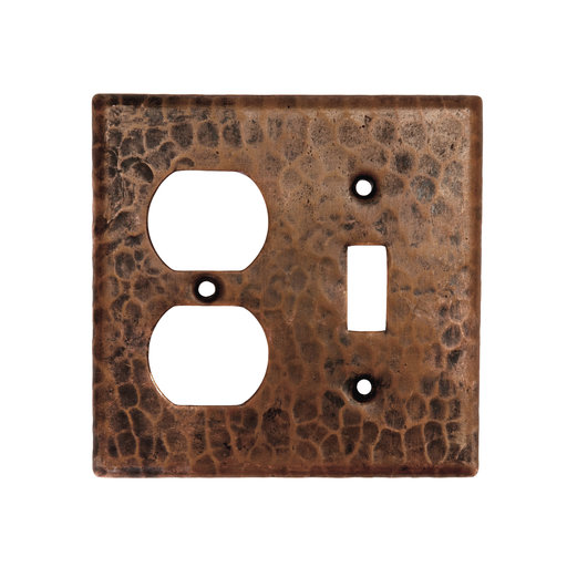 View a Larger Image of Combination 2-Hole Outlet and Single Toggle Switch Switchplate Cover