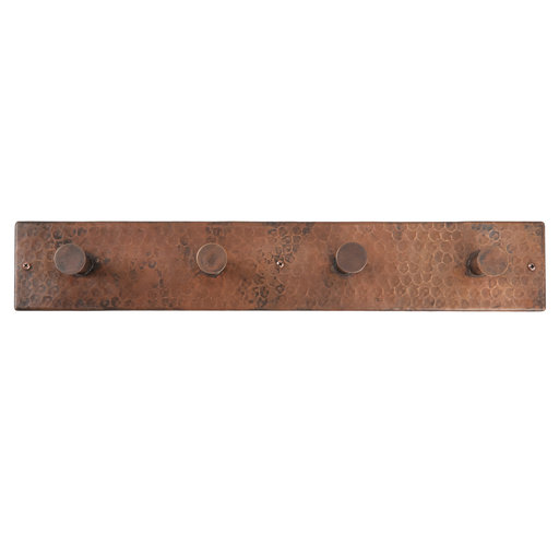View a Larger Image of Hand Hammered Quadruple Robe Hook