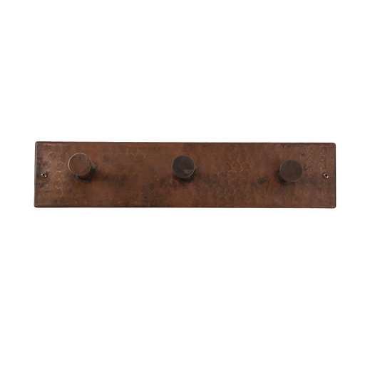 View a Larger Image of Hand Hammered Triple Robe Hook