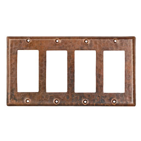 Quadruple Ground Fault/Rocker GFI Switchplate Cover