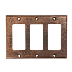 Triple Ground Fault / Rocker GFI Switchplate Cover
