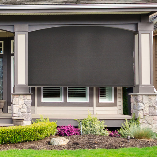 View a Larger Image of Premier Cordless Outdoor Sun Shade, 10' W x 8' L, Mahogany