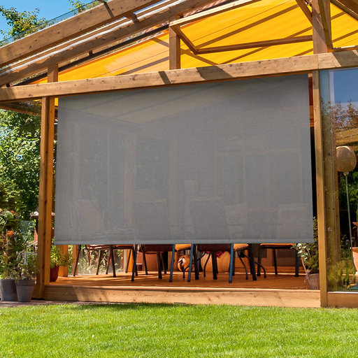 View a Larger Image of Premier Cordless Outdoor Sun Shade, 6' W x 8' L, Elder