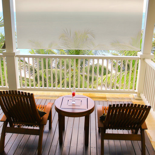 View a Larger Image of Premier Cordless Outdoor Sun Shade, 6' W x 8' L, Maple