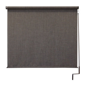 Premier Cordless Outdoor Sun Shade, 6' W x 8' L, Pepper