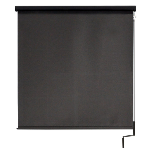 View a Larger Image of Premier Cordless Outdoor Sun Shade with Protective Valance, 4' W x 8' L, Mahogany
