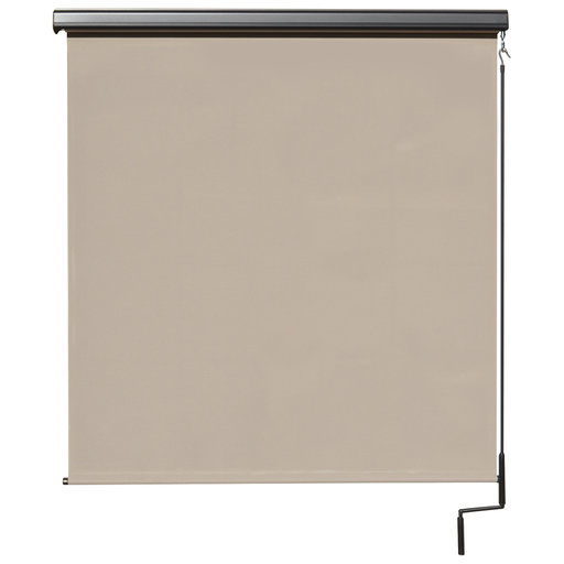 View a Larger Image of Premier Cordless Outdoor Sun Shade with Protective Valance, 4' W x 8' L, Maple
