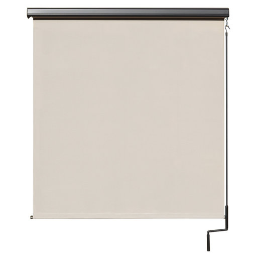 View a Larger Image of Premier Cordless Outdoor Sun Shade with Protective Valance, 4' W x 8' L, Palm