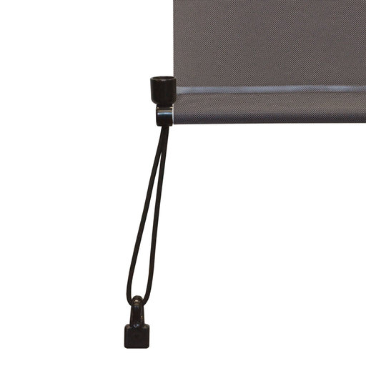 View a Larger Image of Premier Cordless Outdoor Sun Shade with Protective Valance, 7' W x 8' L, Mahogany