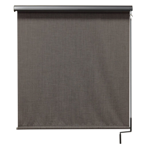View a Larger Image of Premier Cordless Outdoor Sun Shade with Protective Valance, 7' W x 8' L, Pepper