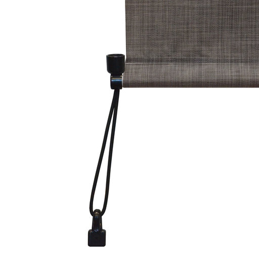 View a Larger Image of Premier Cordless Outdoor Sun Shade with Protective Valance, 8' W x 8' L, Pepper