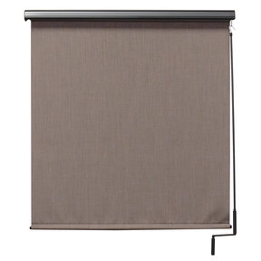 Premier Cordless Outdoor Sun Shade with Protective Valance, 8' W x 8' L, Sandstone