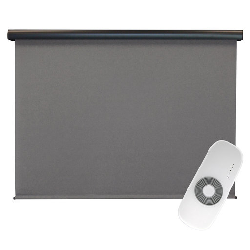 View a Larger Image of Premier Rechargeable Motorized Outdoor Sun Shade with Protective Valance, 7' W x 8' L, Elder