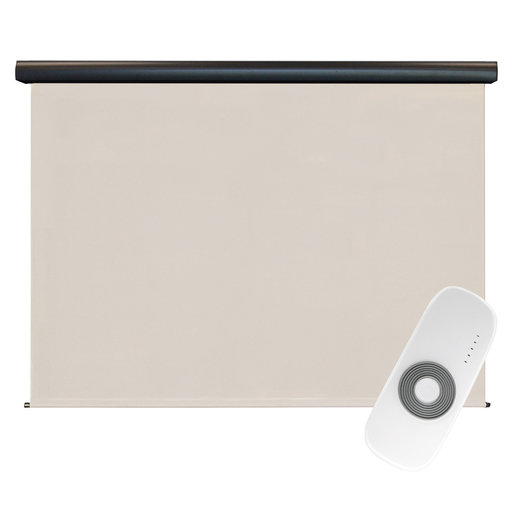 View a Larger Image of Premier Rechargeable Motorized Outdoor Sun Shade with Protective Valance, 8' W x 8' L, Palm