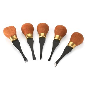4 pc Carving Premium Beginner's Palm Handled Set
