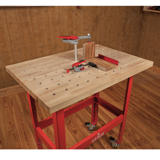 View a Larger Image of Premium Hardwood Clamp Table 36x25