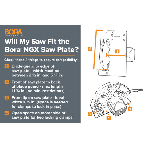 View a Larger Image of Premium Saw Plate For NGX Clamp Edge