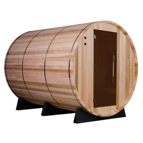 Princeton Electric Barrel Sauna in Clear Cedar