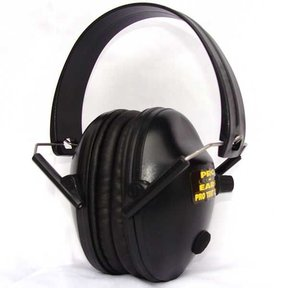 Pro TEKT 200  Electronic Hearing Protection with Standard Spring Steel Headband, Black